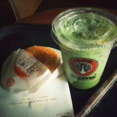 Ice greentea latte
