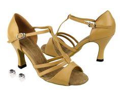 Very Fine Women's Salsa Ballroom Tango Latin Dance Shoes Style 1683 Bundle with Plastic Dance Shoe Heel Protectors, Red Sparkle 6.5 M US Heel 3 Inch