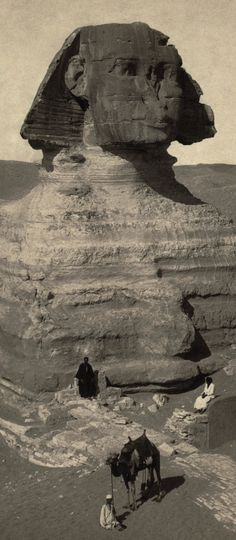 The Great Sphinx, partially excavated, ca. 1878.