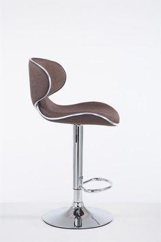 Brown Fabric Bar Stool Metal Frame Cafe Pub Hotel Home Kitchen Seat High Chair Kitchen Seating, Chairs For Sale, Home Kitchens, Bar Stools, Brown, Metal, Frame, Fabric, Home Decor