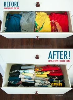 Mpin - Clothes Folding Tips - The Chic Site The Chic Site, Towel Organization, Rachel Hollis, Clothing Hacks, Bedroom Storage, Storage Cabinets, Getting Organized, Girl Room, Decorating Tips