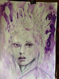 Watercolor portrait by Paola Petrucci