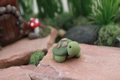 Polymer Clay Turtle - Miniature Turtle - Mini Clay Turtle - Fairy Garden Accessory - Terrarium Accessory –  Sculpture – Garden Decoration by GnomeWoods on Etsy https://www.etsy.com/listing/200468167/polymer-clay-turtle-miniature-turtle