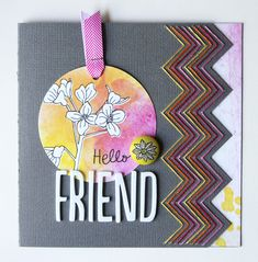 Hello Friend - by Cindy Tobey using Amy Tangerine Sketchbook from American Crafts.