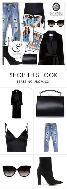 """""""fill template"""" by betty-hs ❤ liked on Polyvore featuring Racil, T By Alexander Wang and Gianvito Rossi"""