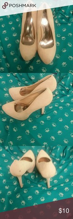 Nude Pumps Size 8. Great condition. Rouge Shoes Heels