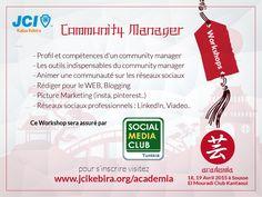 #CommlunityManager pour plus de détails et pour s'inscrire ➪➪ http://www.jcikebira.org/academia   #JCIKebira #100YearsOfImpact