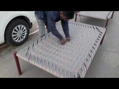 How to Make Rope Bed - Khatlo - Charpoy - YouTube