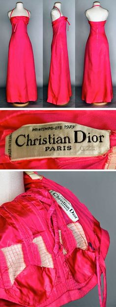 Frabjous Couture: COUTUREGRAM: 1973 Dior Couture Evening Dress