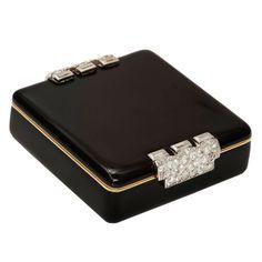 CARTIER Art Deco Diamond Powder Box