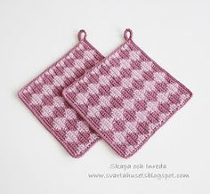 Skapa och Inreda: Virkade grytlappar Pot Holders, Crochet, Sink Tops, Hot Pads, Potholders, Ganchillo, Crocheting, Knits, Chrochet