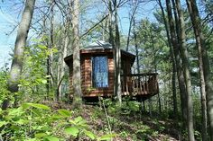 Who wouldn't feel more creative working in this treehouse in the woods? This is (or was) Neil Gaiman's writing shed. It was featured in a book called Shedworking. Neil Gaiman, The Graveyard Book, Shed Of The Year, Large Gazebo, Writing Studio, Hot Tub Gazebo, Fantasy Authors, She Sheds, Built In Bench