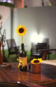 #girassol #decoração #mesa #table #flower #flor #arranjo #sunflower #festajunina