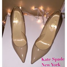 Kate Spade NEW YORK Nude pointed heels, worn twice. Size 8. NO TRADES or PAYPAL kate spade Shoes