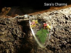 925 Silberkette mit Trockenblüten und Farn von Sara´s Charms auf DaWanda.com