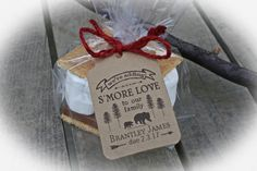 Lumberjack Baby Shower S'More Love Favor Kits-3 TAG COLORS choices w/Bags/Ribbon or twine | Bear Baby Shower Favor | Kits ONLY by MerryMeDesign on Etsy https://www.etsy.com/listing/482410101/lumberjack-baby-shower-smore-love-favor