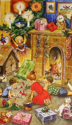 What a great old fashioned Christmas scene.