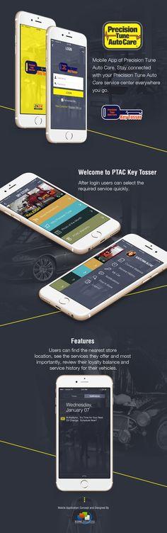 A mobile app concept design for an automotive service center. App Development, App Design, Mobile App, Coding, Concept, Digital, Awesome, Mobile Applications, Application Design
