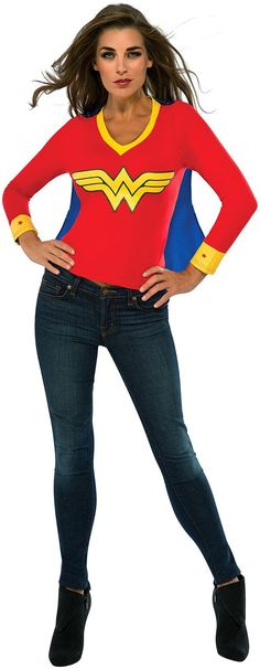 Look stunning without so much effort at any costume party in this Wonder Woman Sporty Tee! Costume