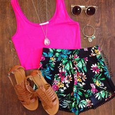 My Sharona Tropical Shorts - Black