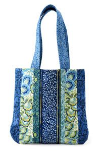 Sew fabric strips to a muslin foundation to create a simple, yet stylish bag.