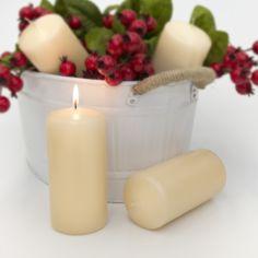 wedding candles, wedding pillar candles, 3x7 pillars, wedding centerpieces, 3x7 pillar candles