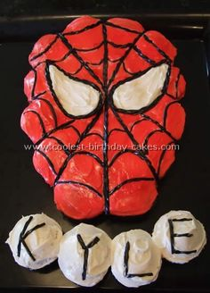 spiderman cupcakes Spiderman Cupcake CakeMy first try
