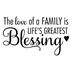 Wall Quotes Love of a Family is Life's Greatest Blessing Home Family Wall Art De… – Family Quotes Family Wall Quotes, Family Love Quotes, Family Wall Art, Vinyl Wall Quotes, Quotes To Live By, Family Family, Family Gathering Quotes, Window Quotes, Funny Family