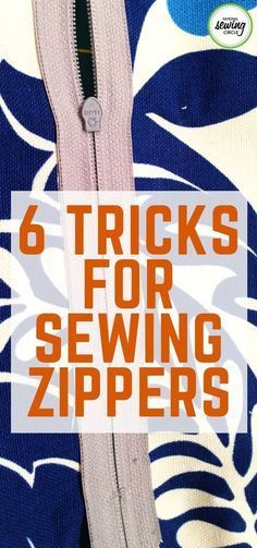 Sewing in a zipper is one of the most intimidating and sometimes frustrating part of a sewing project. It always seems like the zipper or top fabric – or both – wants to move around. Home Project for beginners How to Sew a Zipper: 6 Helpful Tips Sewing Hacks, Sewing Tutorials, Sewing Crafts, Sewing Tips, Sewing Basics, Dress Tutorials, Diy Sewing Projects, Craft Projects, Fat Quarter Projects