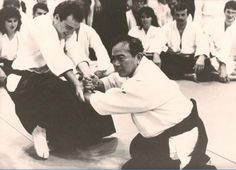 Tohei sensei demonstrating that when you learn the correct way to relax, you tap into your real potential and it is easy to lead, and control other people. This makes Ki Aikido different from other Aikido groups.