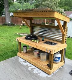 pallet patio bbq table