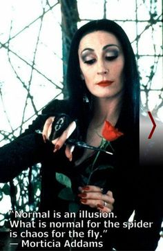 Morticia lives - or perhaps not