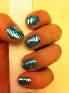 Turquoise & Silver Crisscross Jamberry Nail Wraps. Say GOODBYE to boring nails & hello to Jamberry! To view more styles, go to www.taraeman.jamberrynails.net