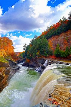 The Lower Falls of Letchworth,State park,NY