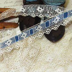 1y Antique VTG INSERTION LACE TAPE French Doll Dress Ribbon Trim Vtg Flower | eBay