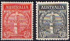 Australia 1935 Anzac Set Fine Mint SG 154 5 Scott 150 1 20th Anniv of Gallipoli Landing Condition Fine LMM Only one post charge applied on multipule
