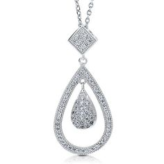 Sterling Silver 925 Micro Pave Cubic Zirconia CZ Pear Pendant Necklace - Nickel Free BERRICLE. $49.99. Metal : Stamped 925. Nickel Free and Hypoallergenic. Stone Type : Cubic Zirconia. Stone Total Weight (ct.tw) : 0.39. Gender : Women