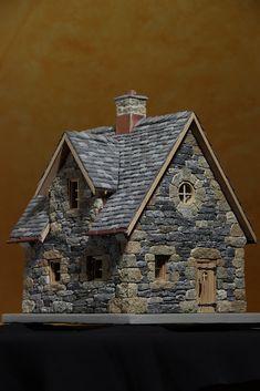 Al mondo esistono delle person Stone Cottages, Stone Houses, Miniature Fairy Gardens, Miniature Houses, Casa Halloween, Medieval Houses, Gnome House, Putz Houses, Fairy Garden Houses