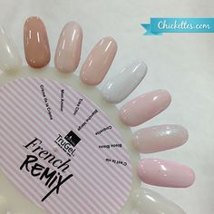TruGel French Remix Collection - 3 nudes, 3 pinks, 1 bright white red carpet gel lacquer