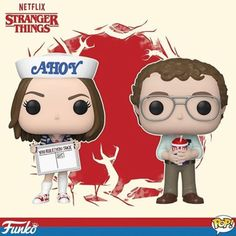 Coming Soon: Pop! TV—Stranger Things Celebrate Season 3 of Stranger Things with Pop! Robin Buckley wearing her Scoops Ahoy uniform and Pop! Alexei the Russian scientist, the perfect companions for a wild adventure. Stranger Things Funko Pop, Stranger Things Season 3, Stranger Things Netflix, Funko Pop Figures, Pop Vinyl Figures, Deadpool, Robin, Naruto, Pop Collection