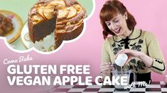 This gluten free vegan apple cake recipe is from my brand new cookbook. texture, no-one will ever suspect it's gluten-free. Amazingly easy recipe to bake. Gluten Free Apple Cake, Vegan Apple Cake, Easy Apple Cake, Fresh Apple Cake, Apple Cake Recipes, Vegan Cake, Dairy Free Baking, Vegan Baking, Dairy Free Recipes