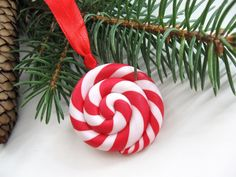 Christmas Ornament Red and white Lollipop Tree Decoration