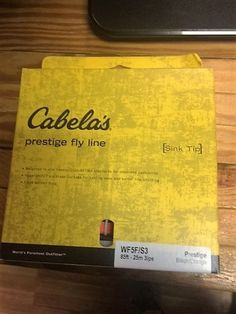 CABELAS PRESTIGE   WF5F/S3  BLACK /ORANGE 85 FT NEW IN BOX #CABELASPRESTIGEWF5FS3ORANGE85FTNEWINBO