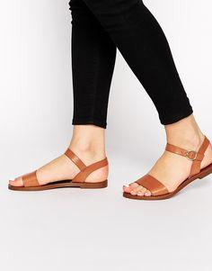Image 1 -Windsor Smith Bondi Tan  Leather Flat Sandals
