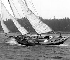 Sailing a double masted sailboat single handed