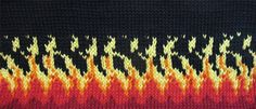 BikerChicKnits: Let Me Stand Next to Your Fire: Flames Graph to Inspire Intarsia Knitting, Knitting Charts, Knitting Socks, Knitted Hats, Knitting Patterns, Crochet Patterns, Crochet Chart, Knit Or Crochet, Fair Isle Pattern