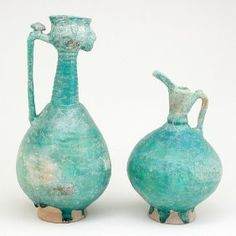 368: Iran Ceramic Ewers : Lot 368