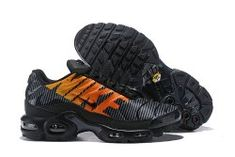 competitive price aa271 395e8 Nike Air Max Plus TN SE Logo Black Orange Men's Running Shoes AT0040 002