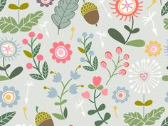 Cute summer seamless pattern) by Marusha