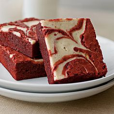 Red Velvet-Peppermint Swirl Brownies | MyRecipes.com